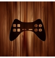 Joystick web icon Wooden texture vector image