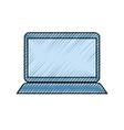 laptop doodle vector image
