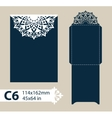 Layout envelope with carved openwork pattern vector image vector image