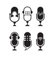 logo or icon podcast with white background graphic vector image