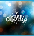 merry christmas card with bokeh vector image vector image