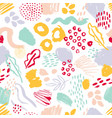 modern seamless pattern with colorful hand painted vector image vector image