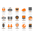 network connection icons set vector image vector image