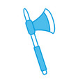old axe weapon vector image vector image