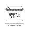online store pixel perfect linear icon vector image