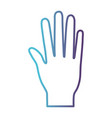 open palm hand gesture on gradient color vector image vector image