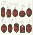 price tags retro vintage collection vector image vector image