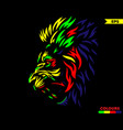 red eye lion colorful version vector image vector image