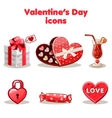 Red love collection valentine s day vector image vector image