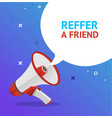 reffer a friend banner poster card with vector image