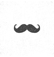 retro drawn mustache icon symbol vector image