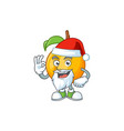 santa seeds nutmeg cartoon on white background vector image vector image