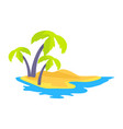 seashore coconut palm trees vector image vector image