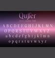 serif font letters for logo design vector image