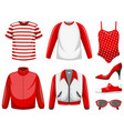 set clothes mock up vector image vector image