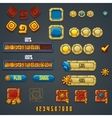 set different elements and symbols for web vector image vector image