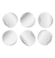 Set of paper stickers on white background vector image vector image