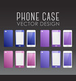 set of phone cases vector image