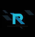 simple initial letter r monogram logo design vector image vector image