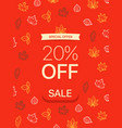 special offer concept 20 percent off vector image vector image