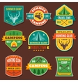 Summer Camping Colorful Emblems vector image vector image