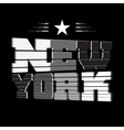 T shirt New York black white star vector image vector image