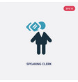 two color speaking clerk icon from people concept vector image vector image