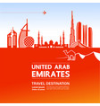 united arab emirates travel vector image