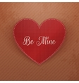 Valentines Day Heart greeting Card on cardboard vector image vector image