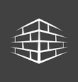 vintage brick wall vector image vector image