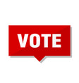 vote red tag vector image vector image