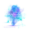watercolor background hand painted vector image
