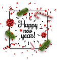 white happy new year card with confetti vector image vector image