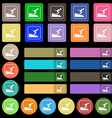 Skier icon sign Set from twenty seven multicolored vector image