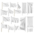 Flags and banners set vector image