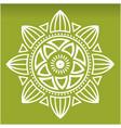 white lotus mandala green background image vector image