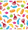 pattern of Fruits Vegetables and food vector image