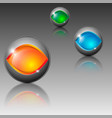 sphere shaped different colored emblems vector image
