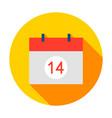 14 days calendar circle icon vector image