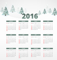 2016 calender template vector image vector image