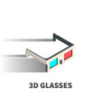 3d glasses icon symbol vector image