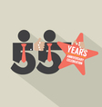 55 Years Anniversary Typography Design vector image vector image