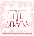 AA monogram vector image vector image