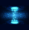 abstract blue technology concept background vector image vector image