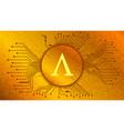 ampleforth ampl token symbol defi project gold vector image vector image