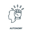 autonomy icon simple element from business