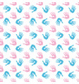 baby palm print seamless pattern vector image vector image