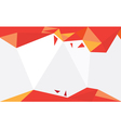Background Triangle Orange vector image vector image