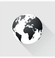 black earth with long shadow vector image vector image