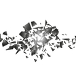 Black explosion on white background vector image